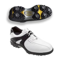 FootJoy Men's Contour White/ Black Golf Shoes