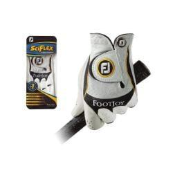 FootJoy Men's SciFlex Pearl White Golf Gloves (Pack of 4)