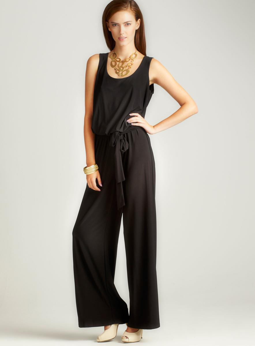 Annalee + Hope Aug-Solid Jersey Tank Jumpsuit