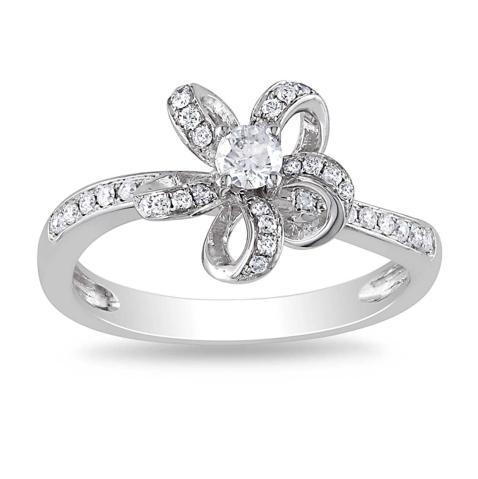 Miadora 14k White Gold 1/4ct TDW Diamond Ring (G-H, SI1-SI2)
