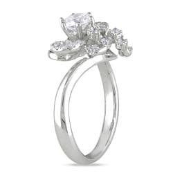 Miadora 18k White Gold 7/8ct TDW Diamond Engagement Ring (F-G, SI2)