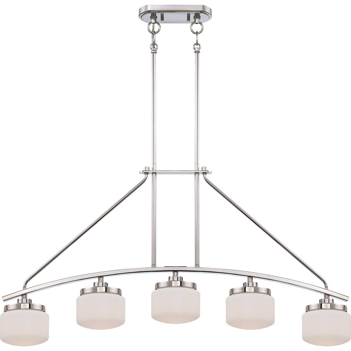 Nuvo 'Austin' 5-light Polished Nickel Pendant