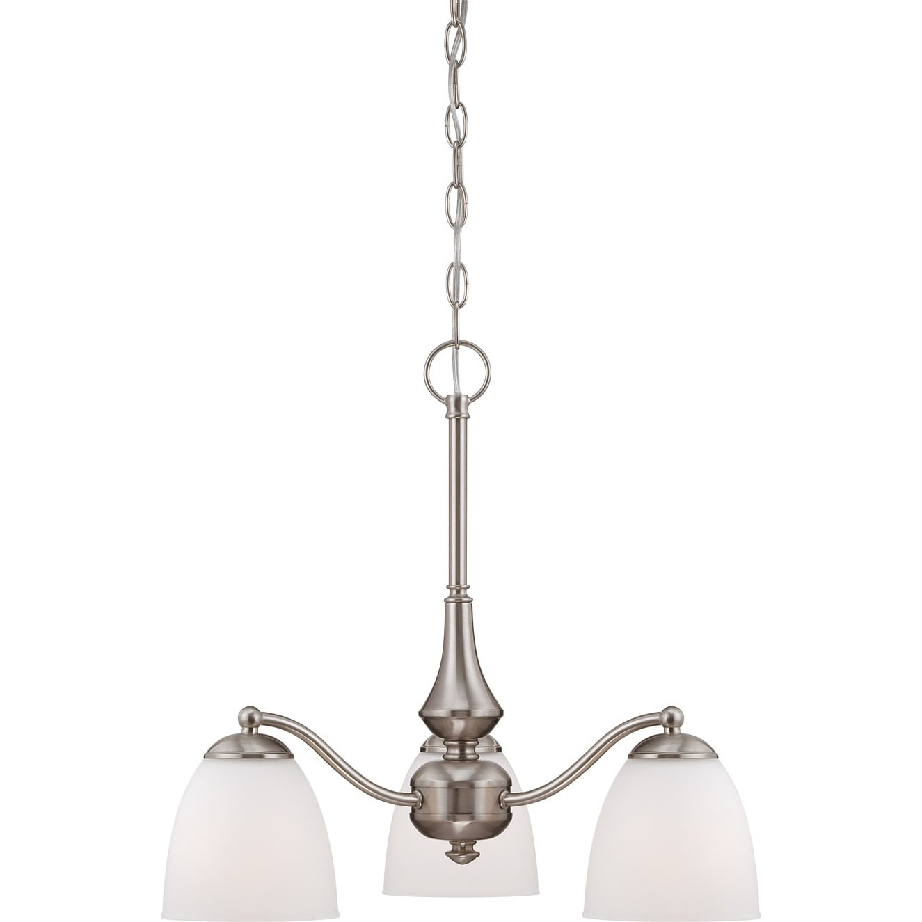Nuvo 'Patton' 3-light Brushed Nickel Chandelier