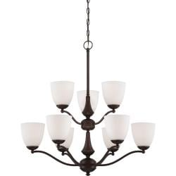 Nuvo Patton 9-light Prairie Bronze Chandelier