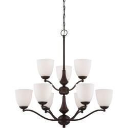 Nuvo Patton 9-light Prairie Bronze Fluorescent Chandelier