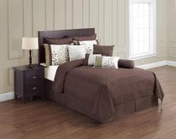 VCNY Green and Chocolate 12-piece Comforter Set