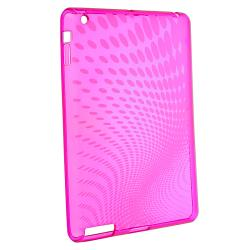 Clear Pink Leopard TPU Case/ Crystal Case for Apple� iPad 2/ 3
