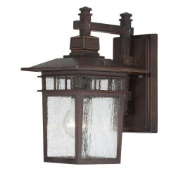 Nuvo Cove Neck 1-light Rustic Bronze Wall Sconce