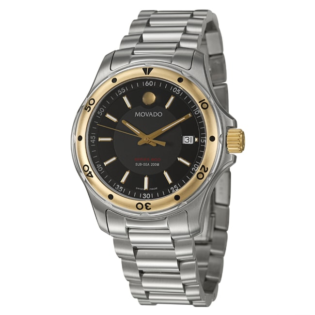 Movado Men's 'Series 800' Gold-plated Stainless Steel Watch