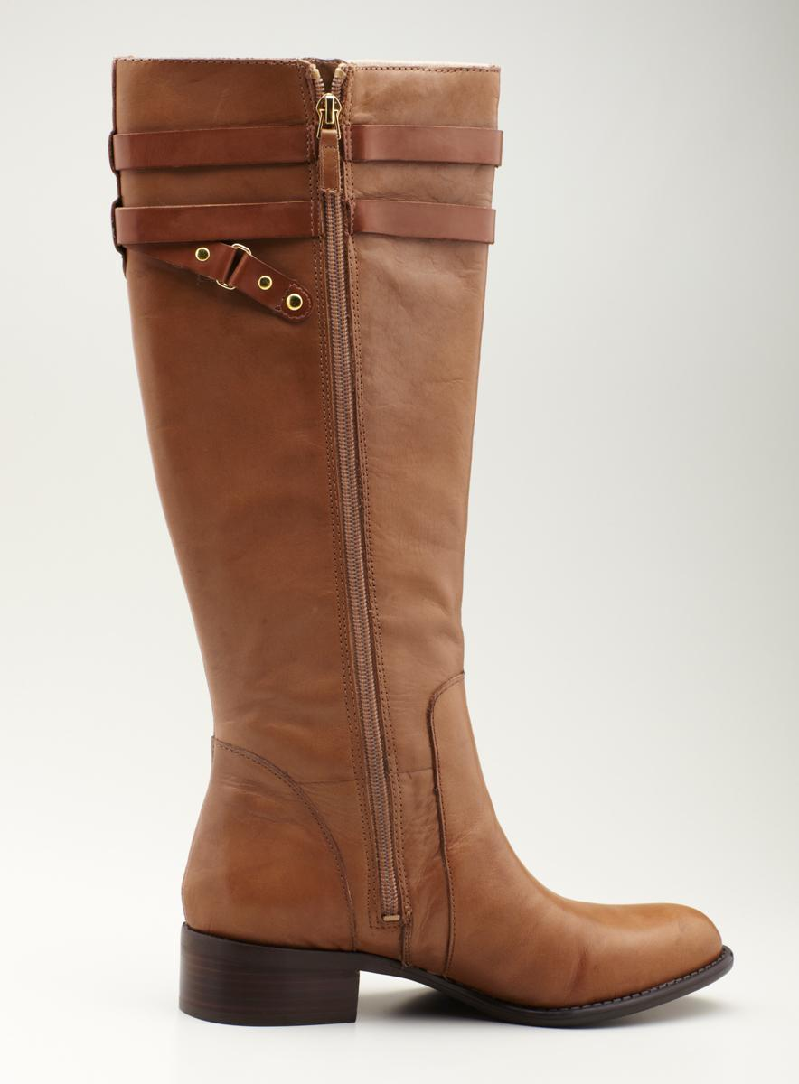 Franco Sarto High Shaft Boot With Strap Detail