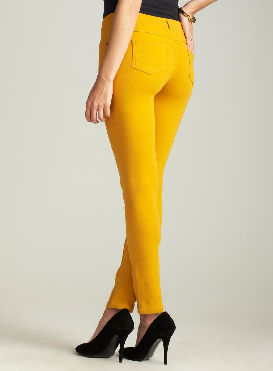 Like An Angel Old Gold Moleton Skinny Pant