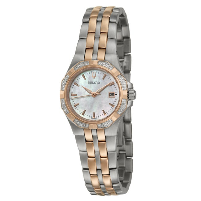 Bulova Women's Stainless Steel Diamond Watch