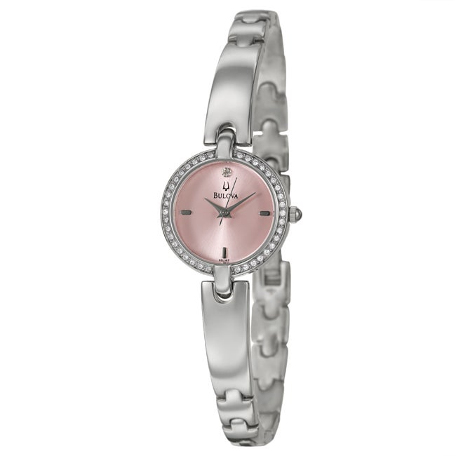 Bulova Women's Stainless Steel Crystal Watch