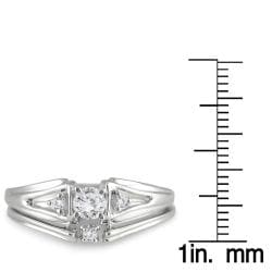 10k White Gold 1/4ct TDW White Diamond Bridal Ring Set (I-J, I1-I2)