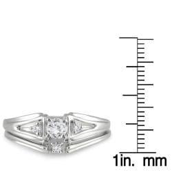 10k White Gold 1/4ct TDW White Diamond Bridal Ring Set (I-J, I1-I2)