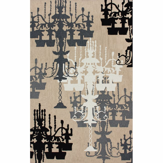Handmade Chandelier Natural Rug (5&#39; x 8&#39;)