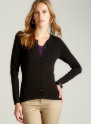 August Silk Black Twin Set Cardigan