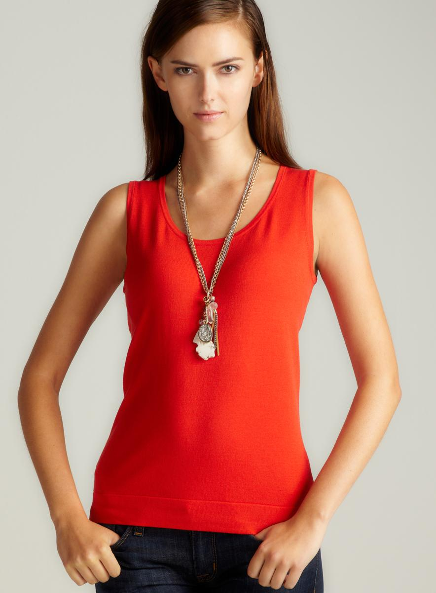 August Silk S/L Scoop Neck Shell