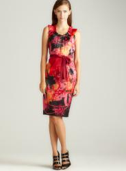 T. Tahari Salma Voyage Printed Dress