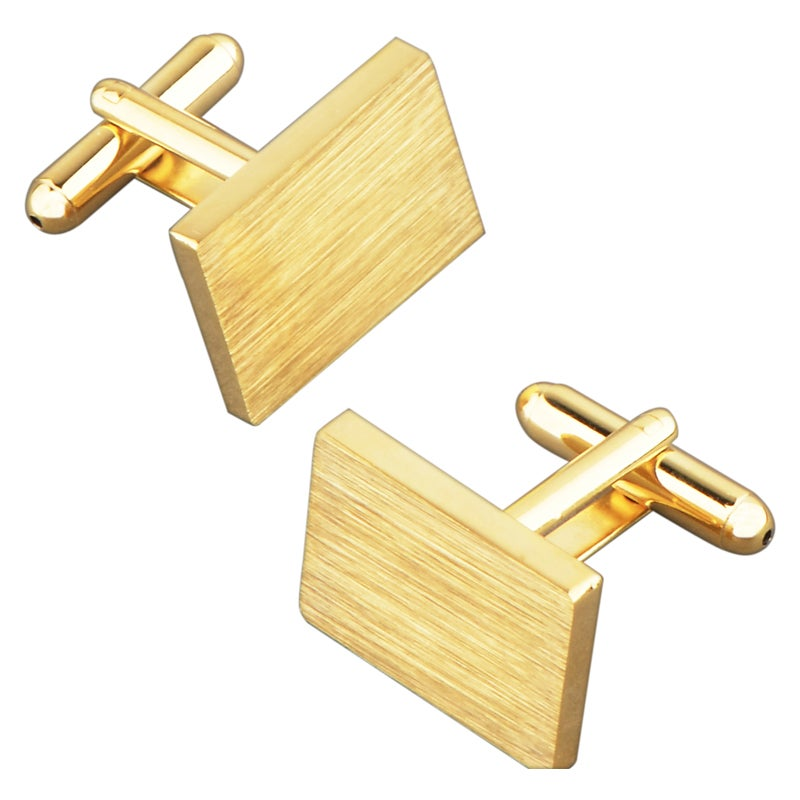 BasAcc Light Yellow Rectangle Cufflink