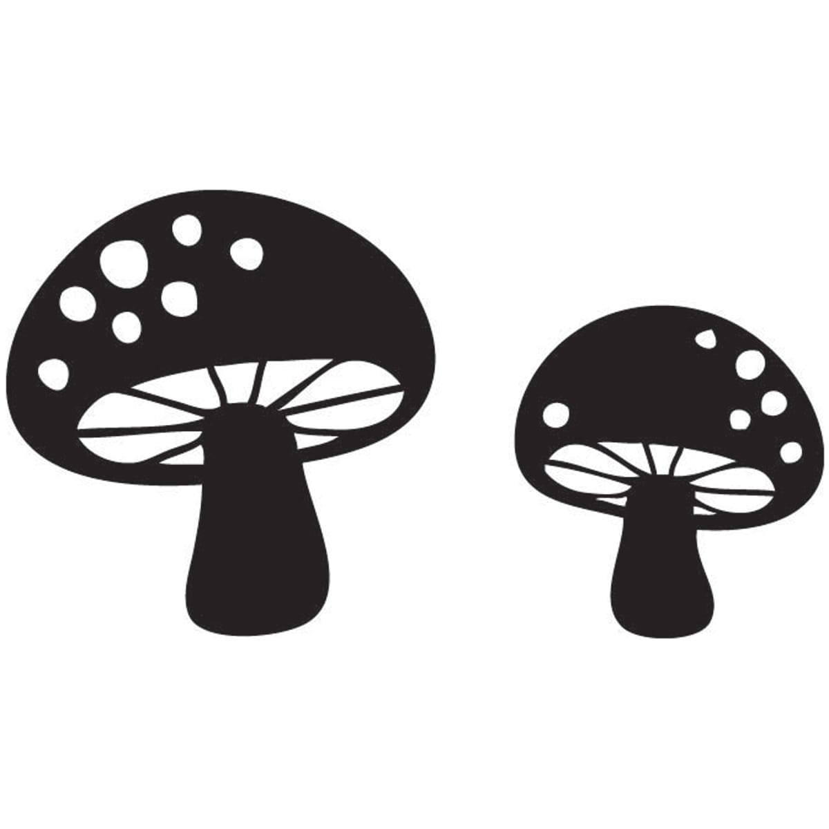 "Mounted Rubber Stamp 1.5""X2.5""-Make Room For Mushrooms"