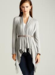 Adrienne Vittadini High Rib Cuff Long Cozy Wrap