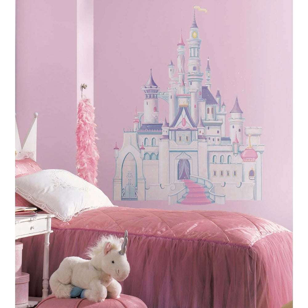 RoomMates Disney Princess Glitter Castle Peel & Stick Giant Wall Decal