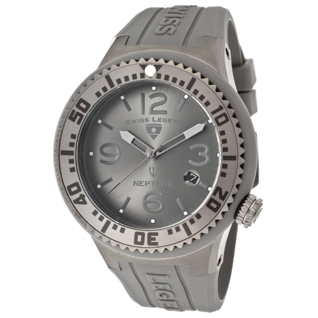 Swiss Legend Men's 'Neptune' Grey Silicone Watch