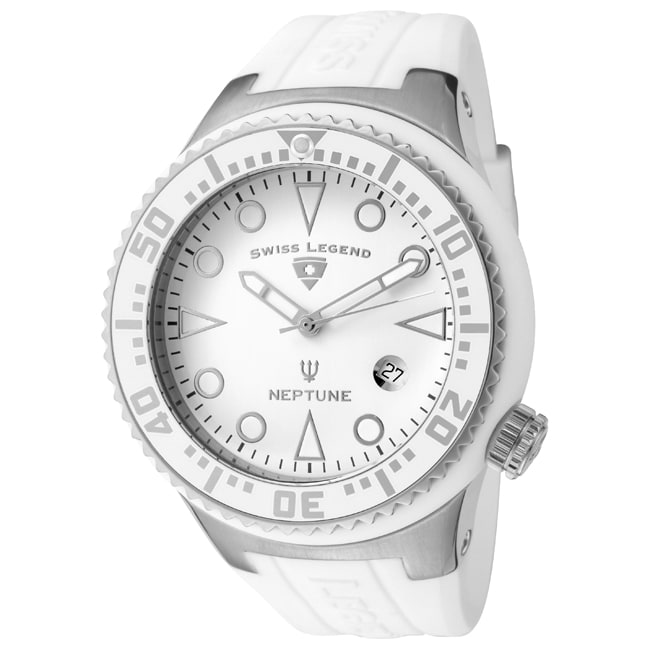 Swiss Legend Men's SL-21848D-02-WHT Neptune White Watch