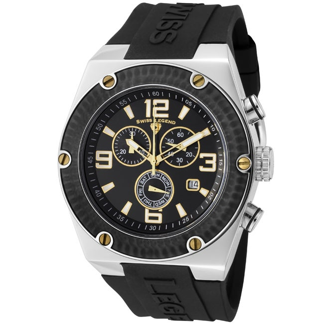 Swiss Legend Men's SL-30025-01-BB-GA Throttle Black Watch