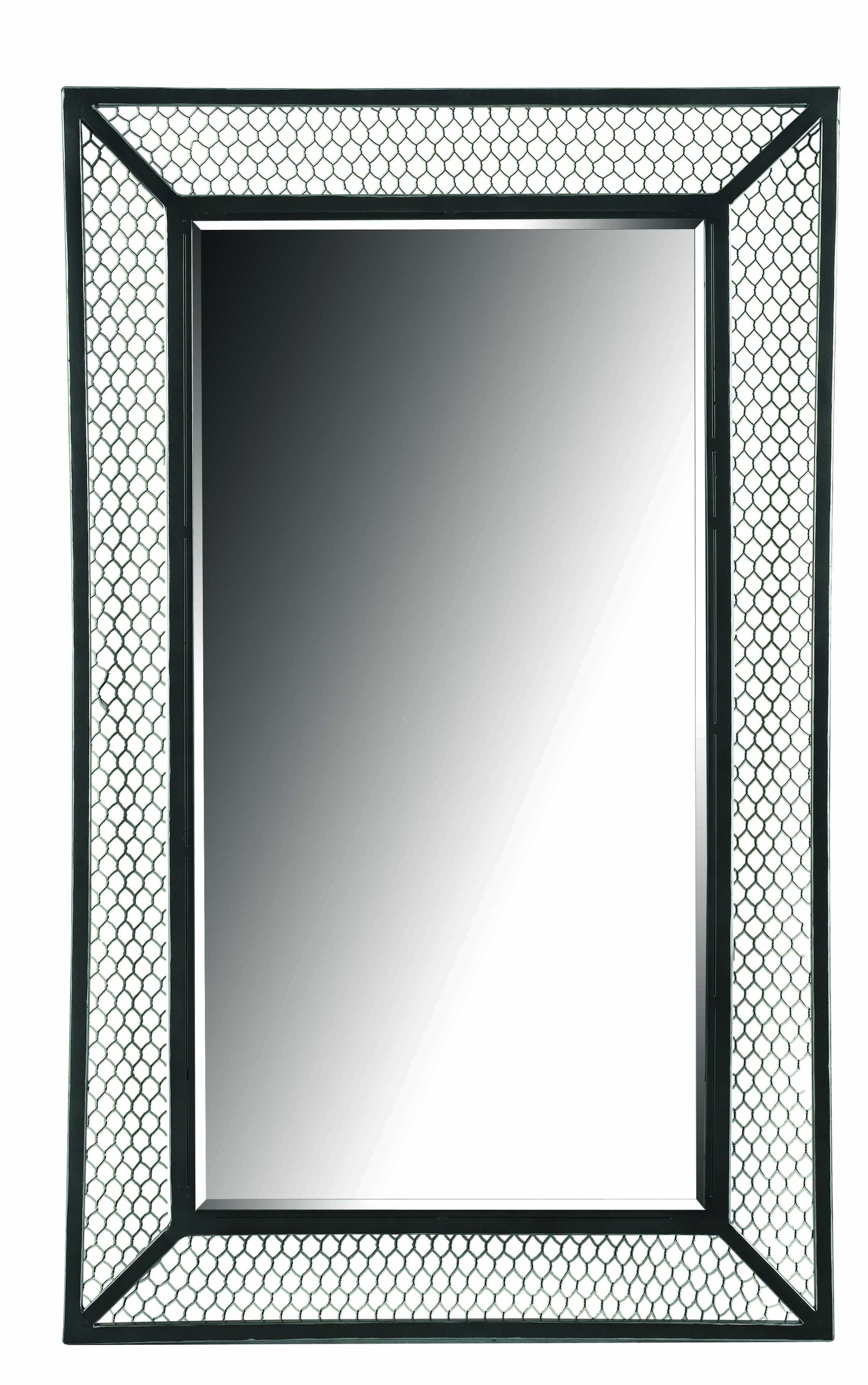'Cozy' Black/ Silver Wall Mirror