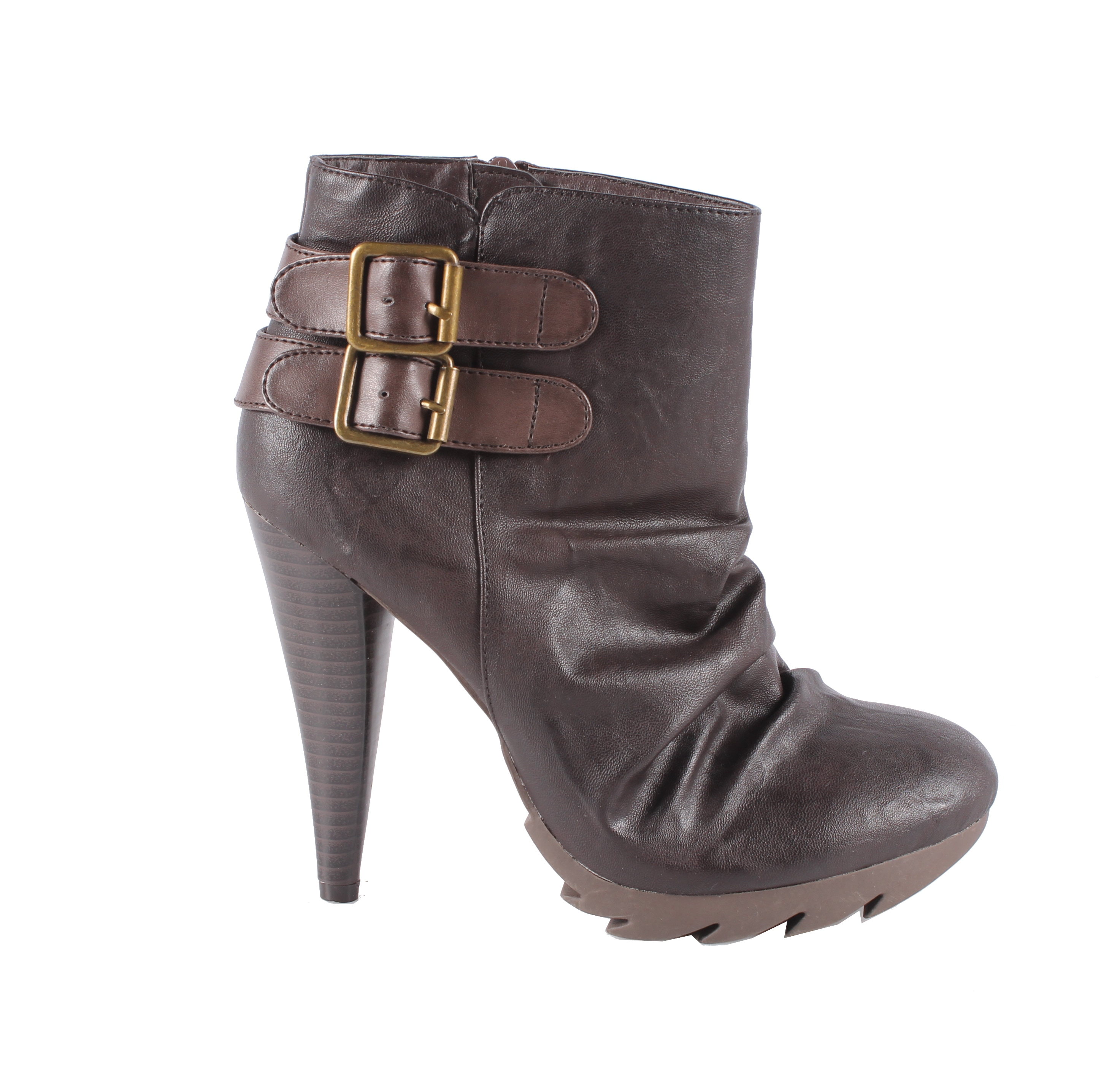 Jacobies by Beston Women's 'Tina-4' Brown Stiletto Bootie