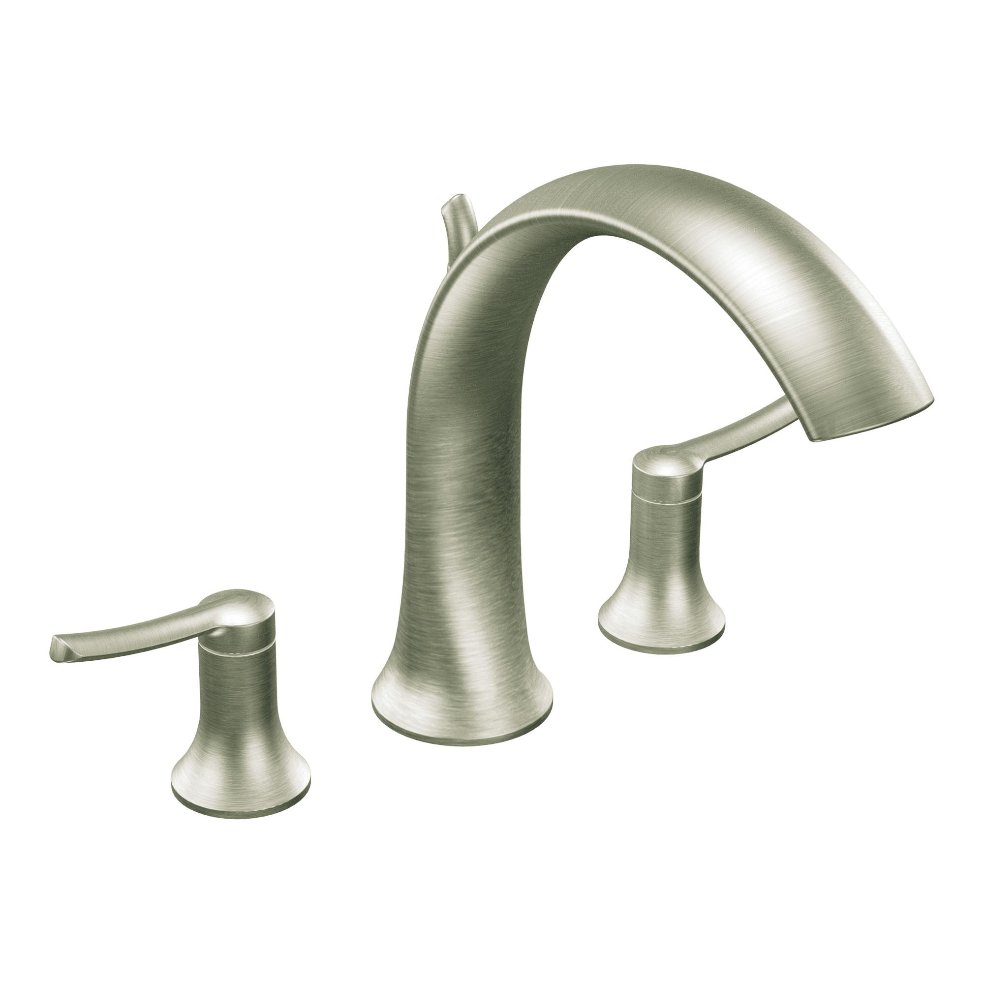 Moen Brushed Nickel Two-Handle High Arc Roman Tub Faucet
