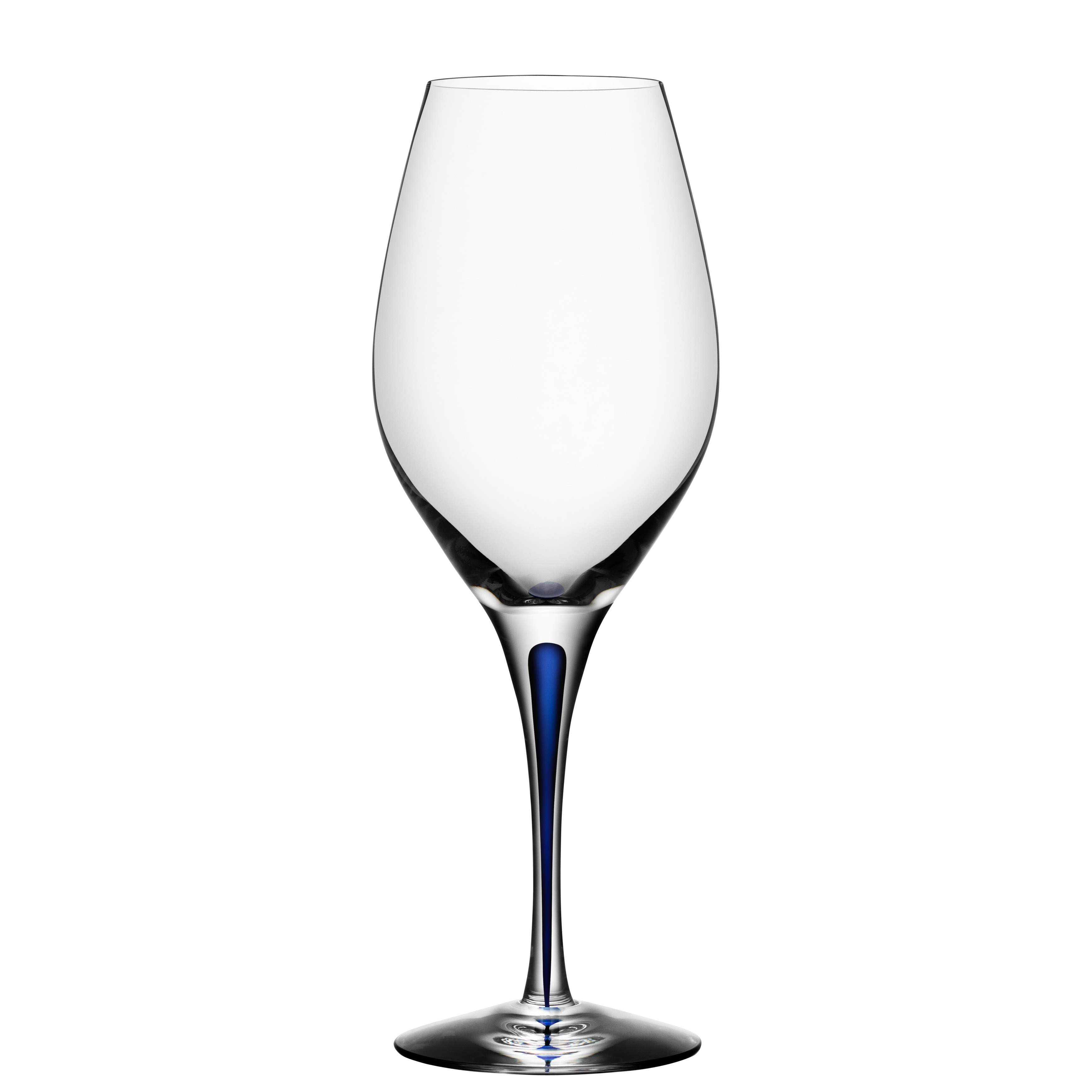 Orrefors Intermezzo Blue Wine Glass