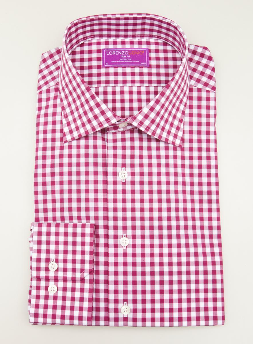 Lorenzo Uomo Dress Shirt Gingham Pattern
