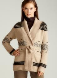 Gerard Darel Cardigan With Diamon Belt
