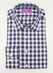 Lorenzo Uomo Dress Shirt Check Pattern