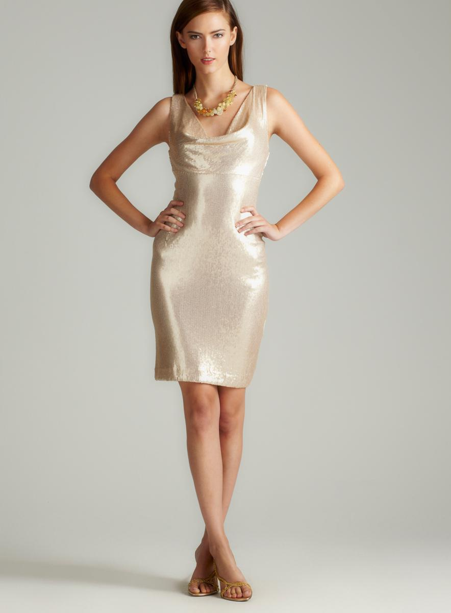 Nicole Miller Sequin Dress - Cocktail Dresses 2016