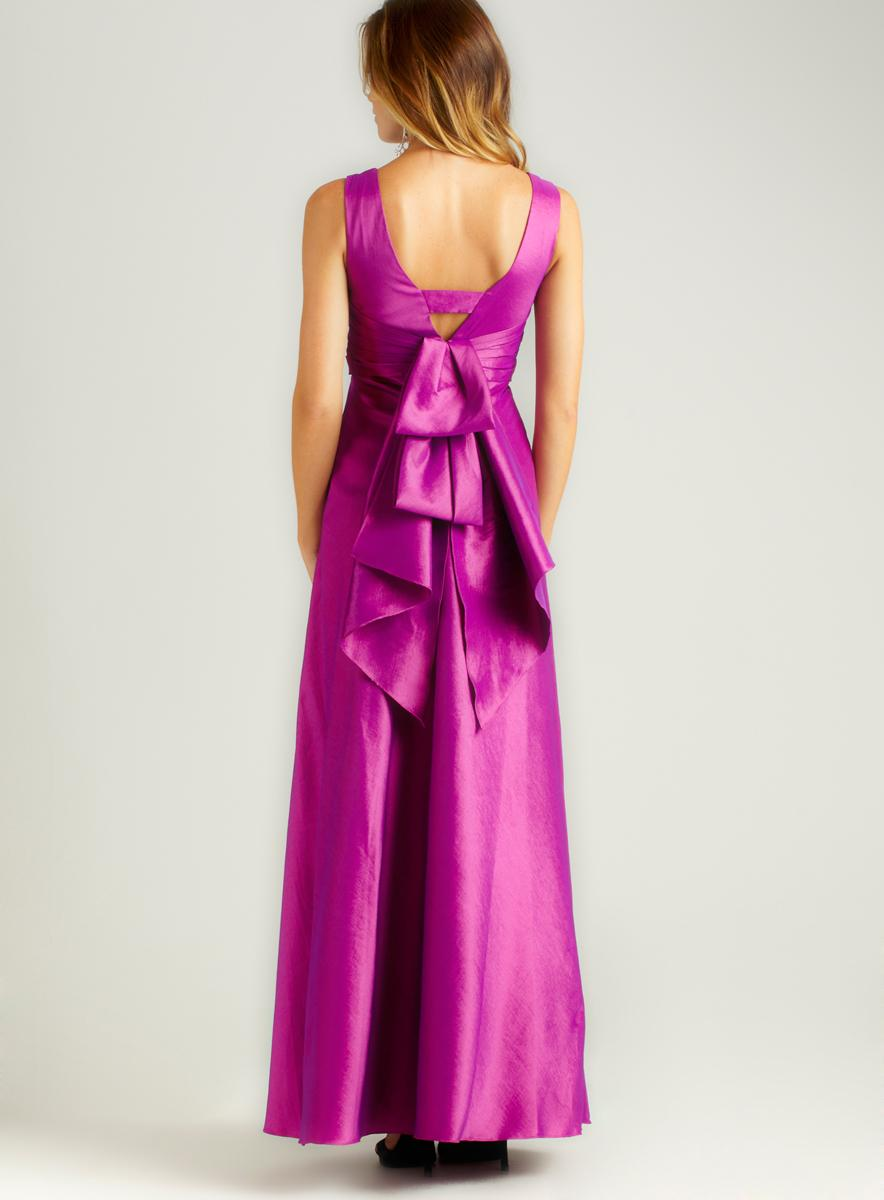 Phoebe Couture Flocked Bodice Long Dress