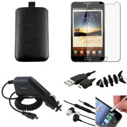 Pouch/ LCD Protector/ Headset/ Charger for Samsung Galaxy Note N7000