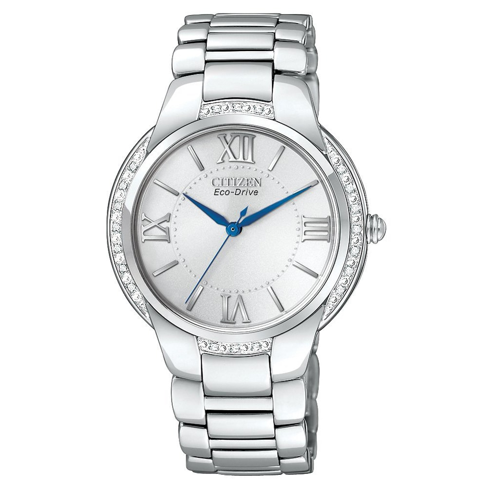 Citizen Women's 'Ciena' Eco-drive Stainless Steel Diamond Watch