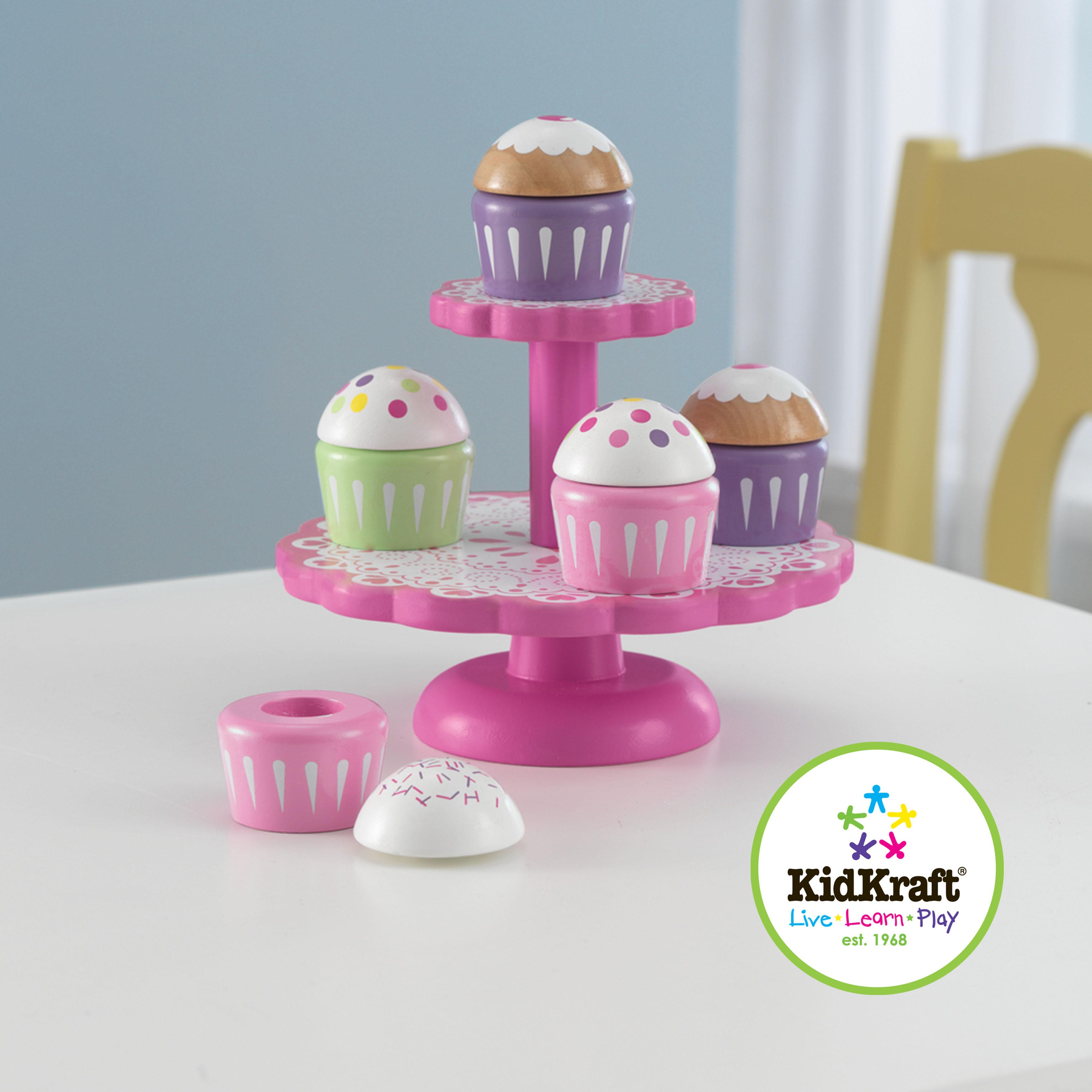 KidKraft Cupcake Stand with Cupcakes