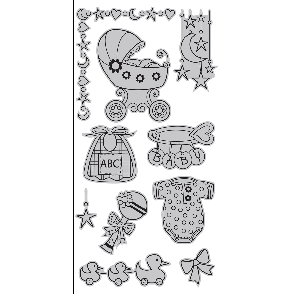 Rubber Clear Stamps   Overstock    Buy Stamping Online