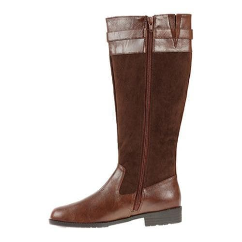 Women's Annie Denver Wide Calf Coach Antique/Brown Suede