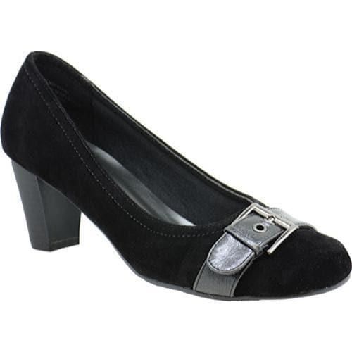 Women's Annie Patsy Black Velvet Suede/Black