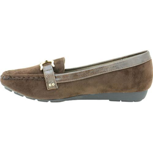 Women's Annie Misty Brown/Brown Velvet Suede