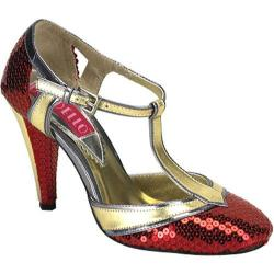 Women's Bordello Cabaret 01SQ Red Sequins