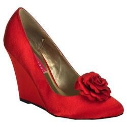 Women's Bordello Camille 01 Red Satin