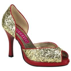 Women's Bordello Storm 06G Gold Glitter
