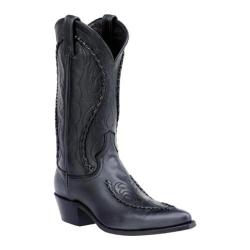 Men's Dan Post Boots Buckstitched Handlaced 13 Black Deertan